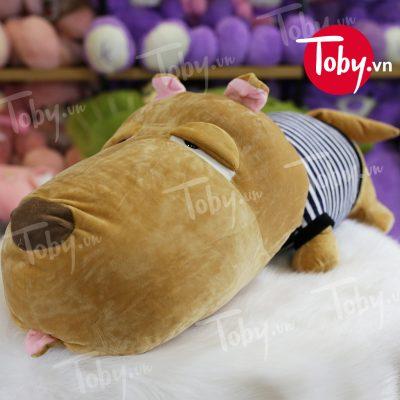 Chó Bông Puco được nhập khẩu cao cấp với chất liệu lông nhung 2 chiều siêu mịn & mượt, với chiếc lưỡi thè ra & đôi mắt híp khiến Puco vô cùng đáng yêu