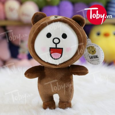 Thỏ cony cosplay gấu Brown