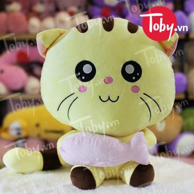 Mèo Bông Vàng ôm Cá