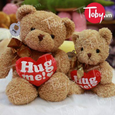 Gấu Teddy ôm tim HUGME
