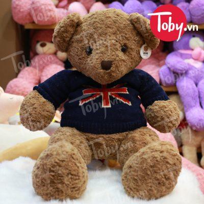 Gấu Teddy Vintage áo len cờ anh