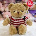 Gấu Teddy lông xoắn áo len Cờ Mỹ