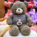 Gấu Teddy áo len Baymax – Xám